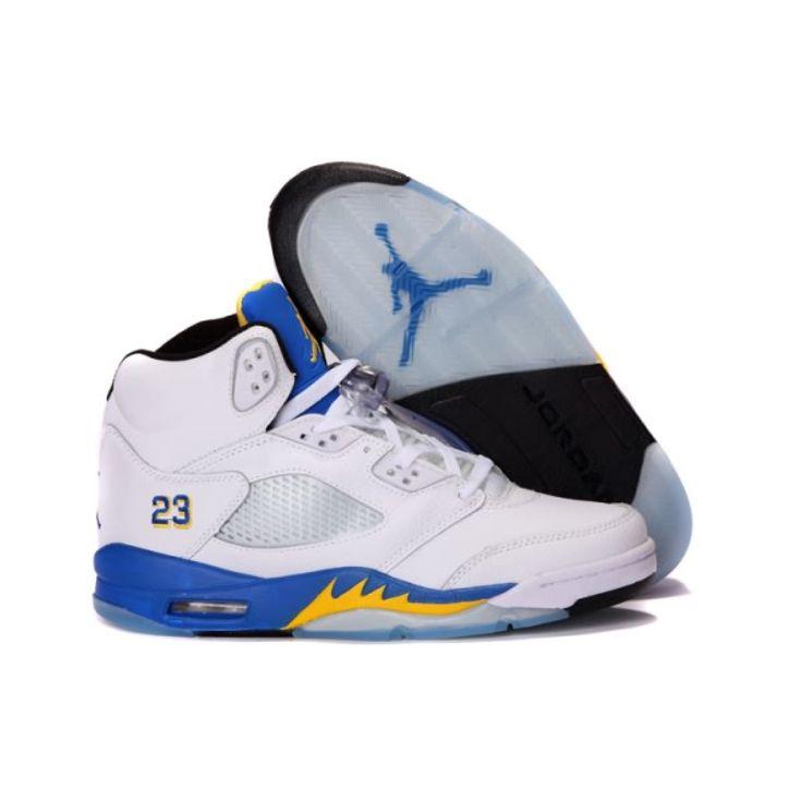 air jordan 5 Blue and Yellow
