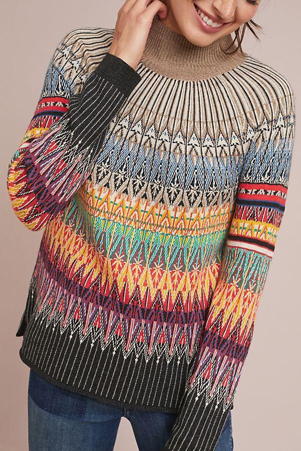 ecb54244e Prismatic Fair Isle Sweater