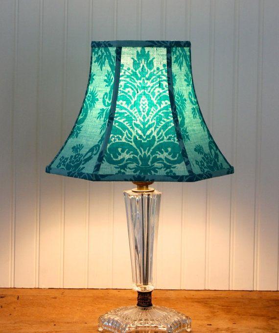 Damask Lamp Shade  Vintage French Scalamandre  Bell by Sassyshades