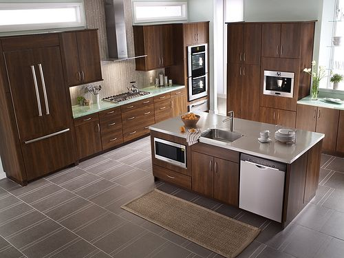 Built In Microwave In Island Kitchen Pinterest Double Wall Ovens Wall Ovens And Coffee