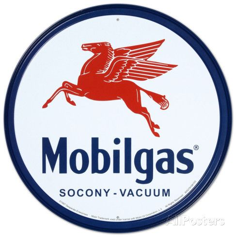 Mobilgas Pegasus Placa de lata