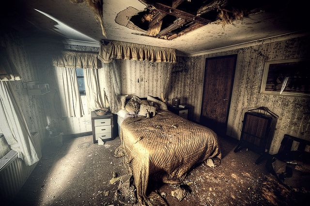 The Penthouse Suite , one of the 30 odd bedrooms inside Abandoned hotel W
