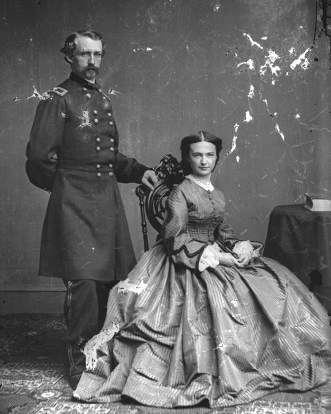 Civil War Photo: George Armstrong Custer & Wife