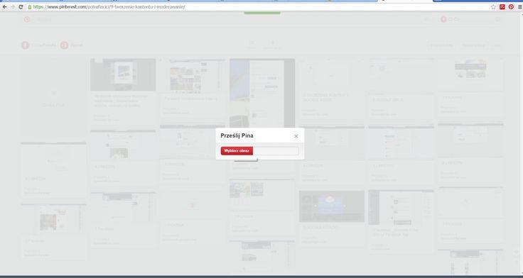 Pinterest - wybór konkretnego pliku