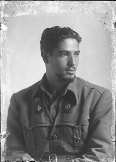 Italian Vintage Photographs ~ A handsome young soldier in uniform, Bersagliere, Italy, 1945.