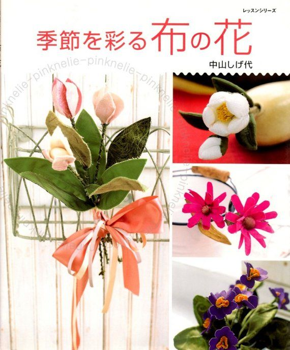 Four Seasons Decorate  with Fabric Flowers  Japanese by PinkNelie, $33.00
