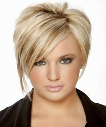 short hairstyles for plus size round faces - Google Search