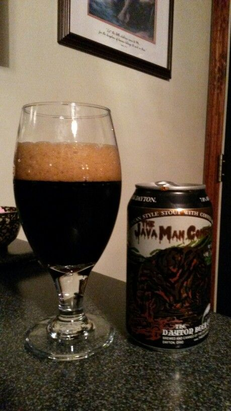 The Java Man Cometh an American Style Stout with coffee added by The Dayton Beer Co., Dayton Ohio