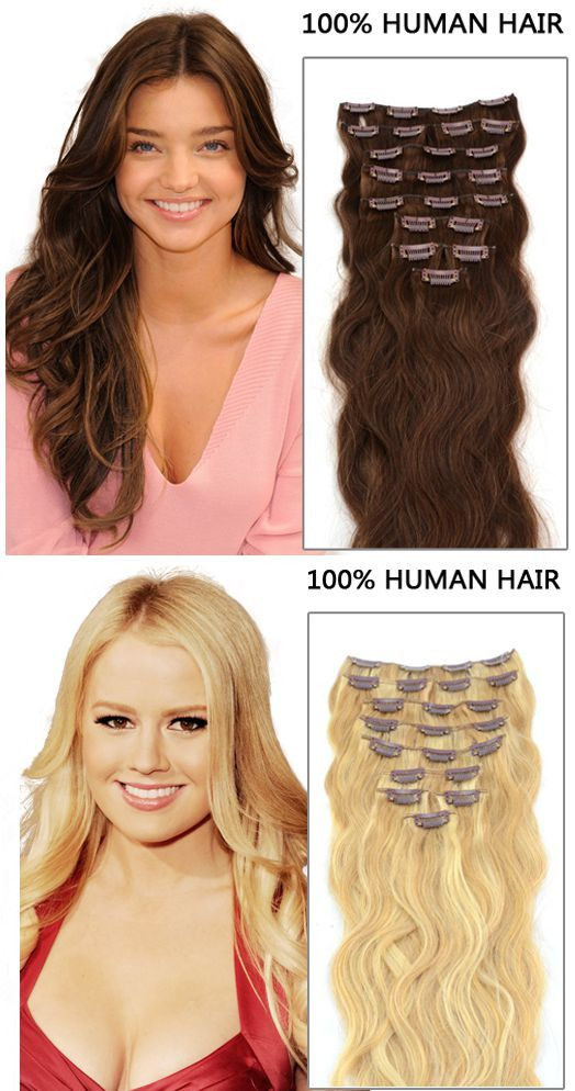 Clip in simple natural hair extensions, make your gorgeous hairstyle. Here all hair extensions for your choice.