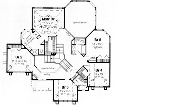 Upper Second Floor Plan Floor Plans Pinterest Plan