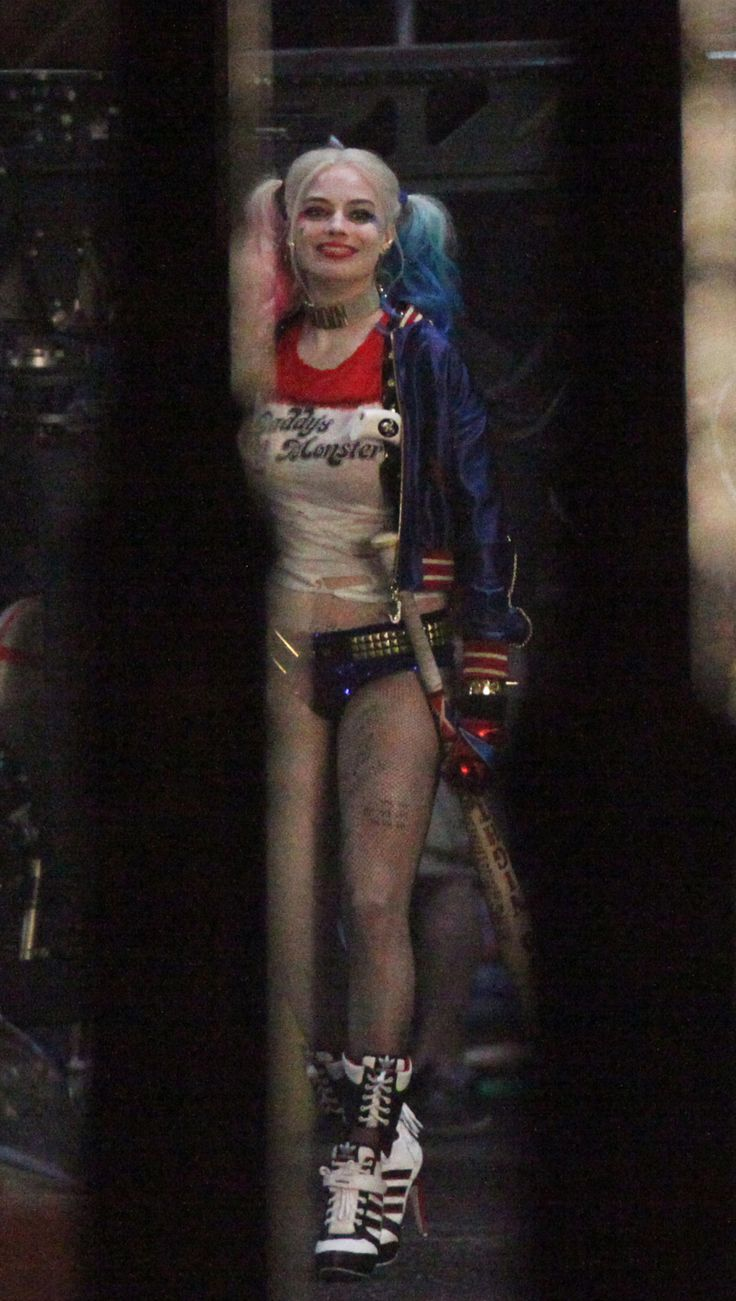 Margot Robbie as Harley Quinn in the coming Suicide Squad