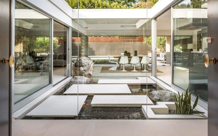 This mid century in Hollywood Hills by Edward H. Fickett has some unique…