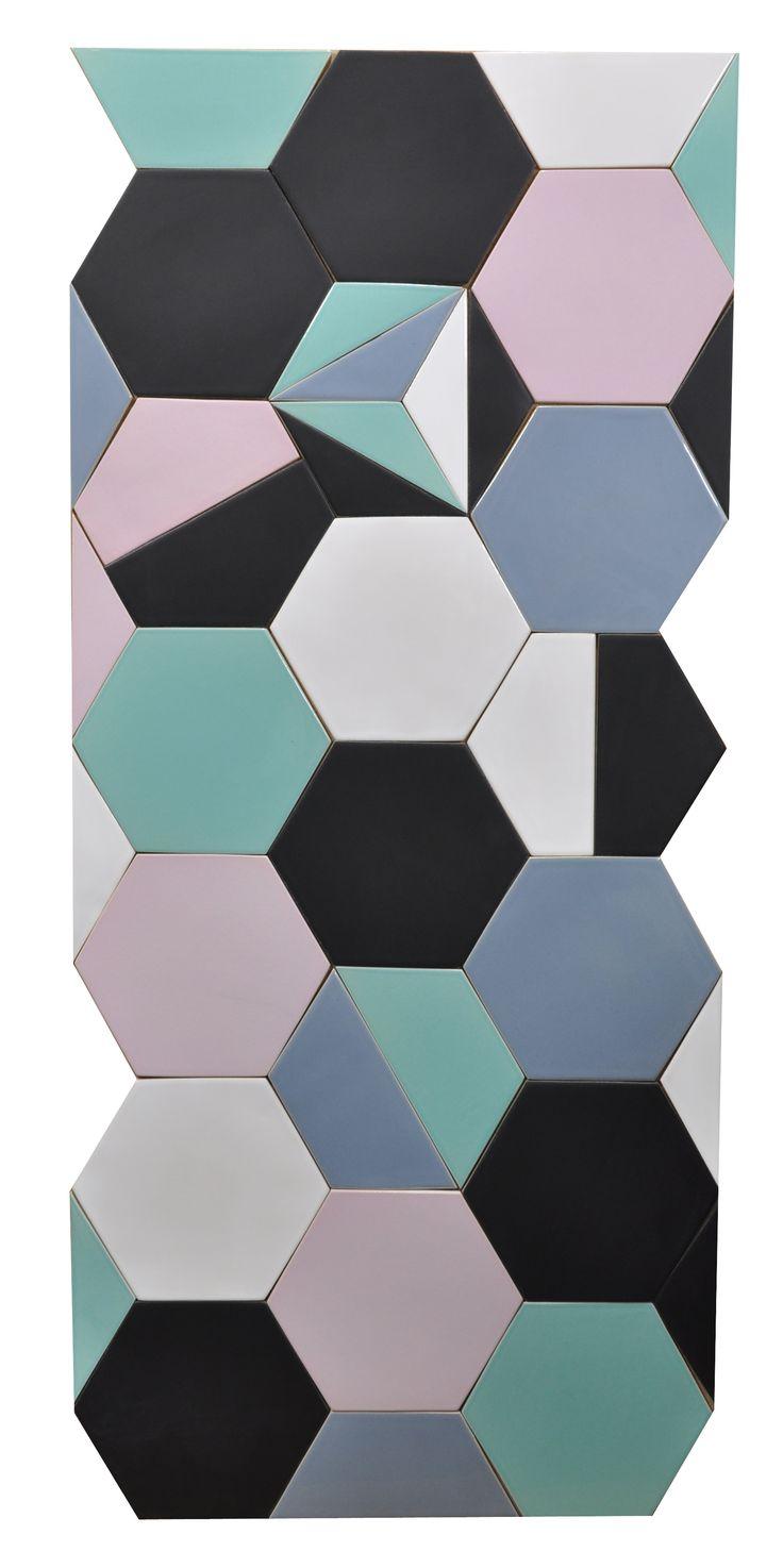 "Handmade tiles ""hexagon"". Design and construction Inżynieria Designu. www.inzynieriadesignu.pl"