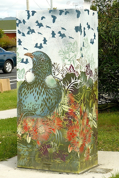 One of the many painted power boxes in Glendene