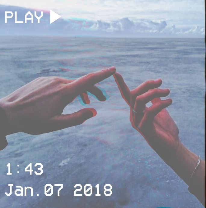 M O O N V E I N S 1 0 1 #vhs #aesthetic #blue #hands #lovers #touch