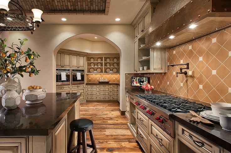 Luxurious Kitchen With Butler S Pantry Southwestern
