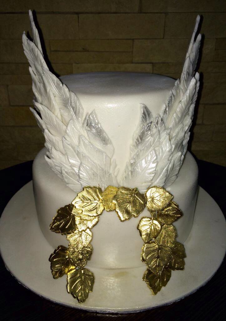 Angel Wing Birthday Cake Birthday Cakes For Ladies
