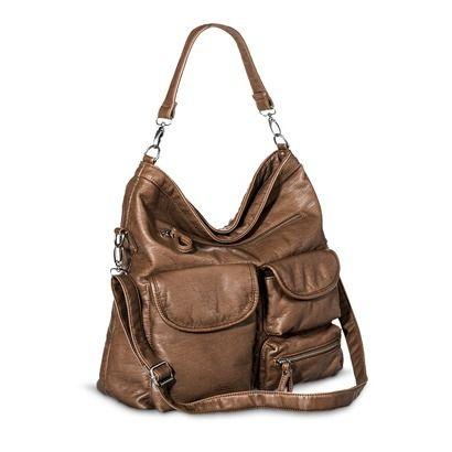 Ecom Cross Body Bags Bueno TAN Zip Closure