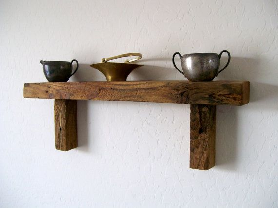 floating shelf wall shelf wall hanging rustic reclaimed. Black Bedroom Furniture Sets. Home Design Ideas