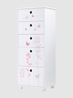 Commode semainier 5 tiroirs Miss Butterfly  - vertbaudet enfant
