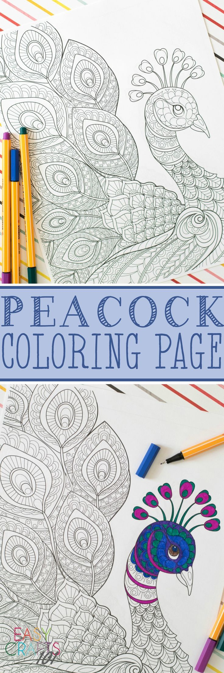17 best images about coloring pages on pinterest neon for Peacock crafts for adults