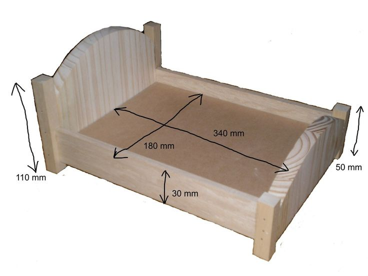 Les 25 meilleures id es de la cat gorie lits de poup e sur for Plan lit en bois