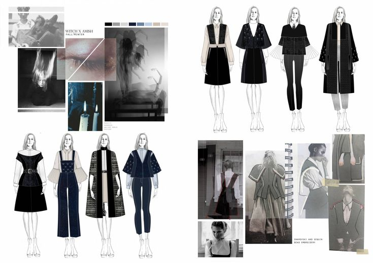Fashion Sketchbook - fashion illustrations; creative process; fashion portfolio // Amandine Piris
