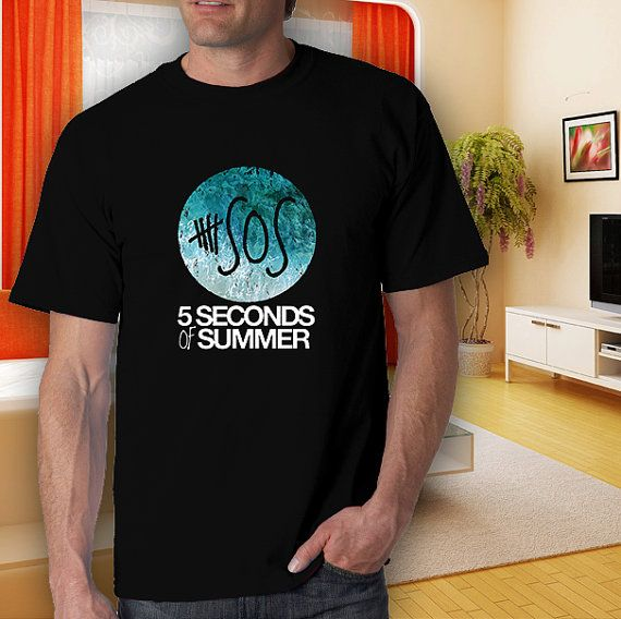 5 seconds of summeradult black tshirt men women S2XL by goodwear, $14.99 #tshirt #t-shirt #5sostshirt