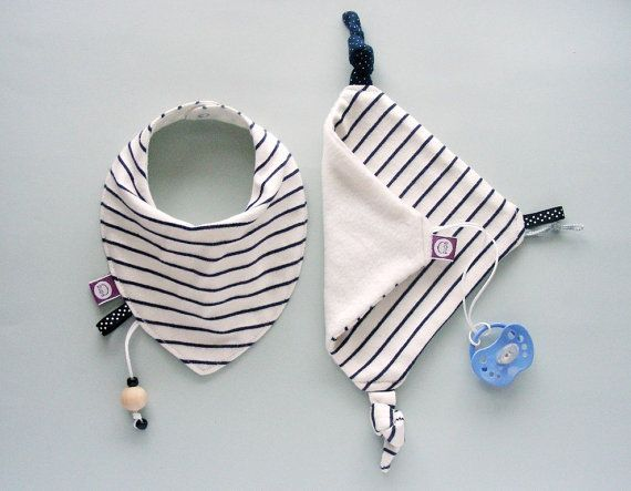 Baby Set of  Bandana bib and  Baby Comforter Dribble drool t... Baby Accessories