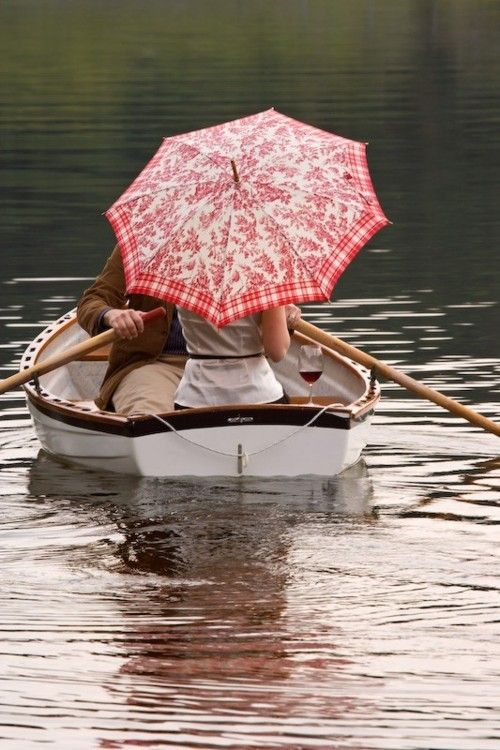 Umbrella on the lake.