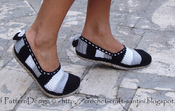 NEW Tailored ROPESoles / Turn crochet slippers into street shoes.