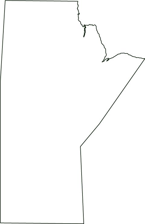 manitoba outline map