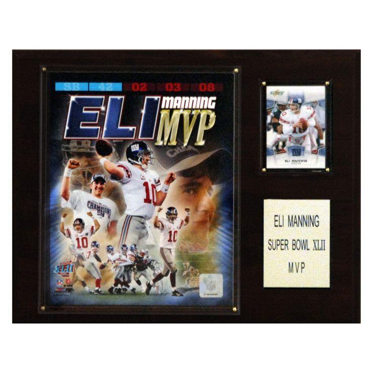 NFL 12 x 15 in. Eli Manning Super Bowl XLII MVP New York Giants Player Plaque - 1215ELIMVP