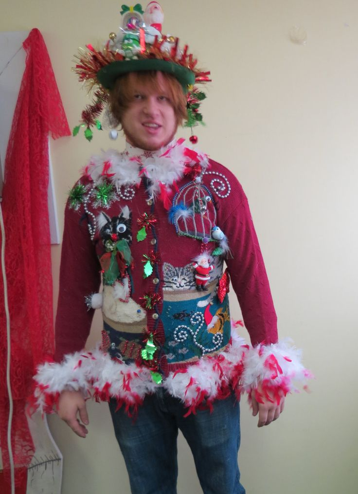 Clever ugly christmas sweaters