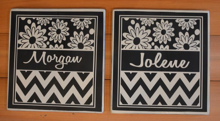 Custom name plates for sisters