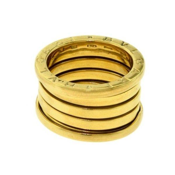 preowned bulgari bzero1 18k yellow gold ring size 575 brl