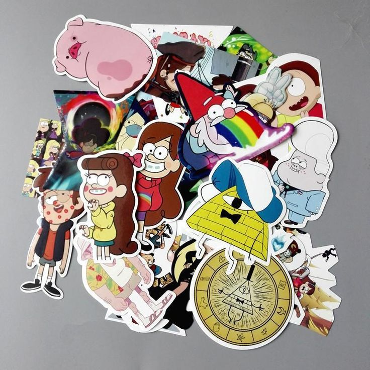 25Pcs/lot Funny Anime Gravity Falls Sticker For Car Laptop Luggage Skateboard Motorcycle Decal Kids Toy Stickers