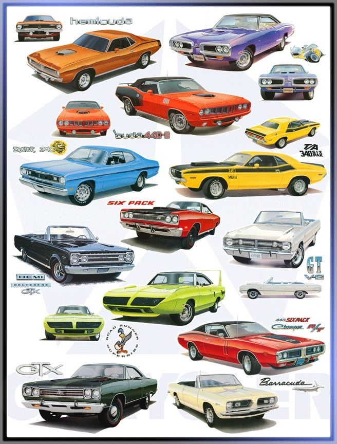Mopar Muscle Girls Mopar Collage 227x300 Mopar Muscle The Mopar
