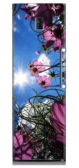 Lodówka w kwiaty.  #kwiaty #kwiatywsloncu #flowers #lodowka #matamagnetyczna #design #kitchen