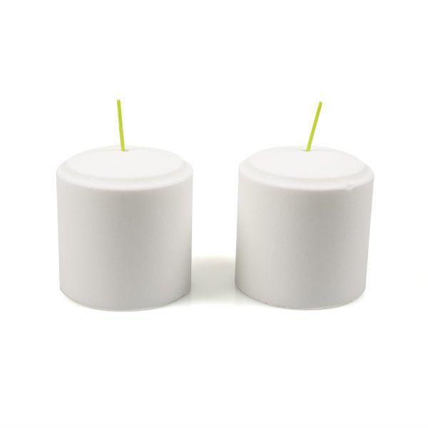 Weiße Bio-Kerze Engels 8,5x10 cm im 2er-Karton - Jetzt im #KONTOR1710
