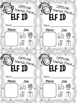 Elf Application and Elf ID Cards- Holiday Elf Fun!