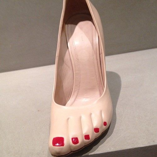 Keeping us on our toes. Crazy shoes from Celine S/S 2013!