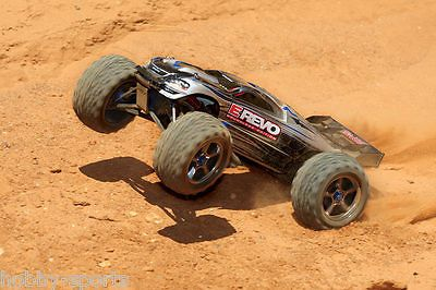 ﹩569.95. Traxxas Brushless E-Revo 4WD TQi TSM Stability 2.4GHz RTR TRA560864    Type - Monster Truck, Fuel Source - Electric, State of Assembly - Ready-to-Go, Scale - 1:10, Product Line - E-Revo, Fuel Type - Electric, Required Assembly - Ready to Go/RTR/RTF Without Batteries, Recommended Surface - Off-Road, UPC - 020334564832