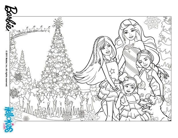 coloring de noël | BARBIE in a PERFECT CHRISTMAS coloring ...