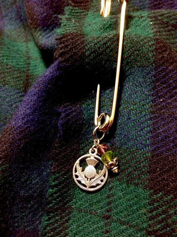 Outlander Inspired Lovely Scottish Thistle Kilt Pin  3 inch silver colored metal blanket pin is the perfect size for kilts, shawls, caplets