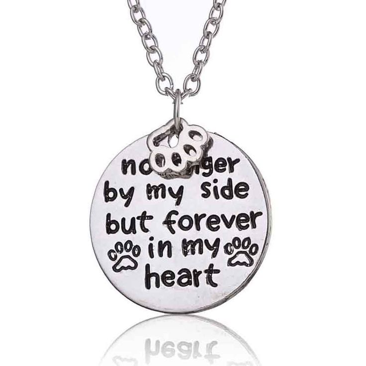 No Longer by My Side But Forever In My Heart Pendant Necklace – Bee and Buzz