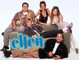 """April 1997, Ellen DeGeneres came out on her sitcom """"Ellen"""" and in real life—a year after Congress passed the Defense of Marriage Act.   Ellen's coming-out on """"The Puppy Episode"""" was significant not only because it was the first time a leading primetime character was gay, but because the character was also played by an openly gay actor."""
