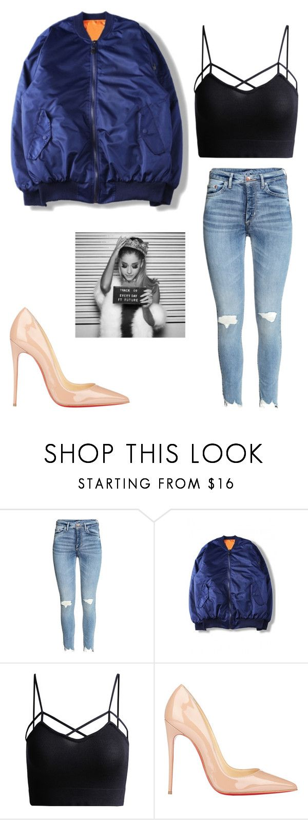 """Ariana Grande ""Everyday"" Get The Look"" by jesysminn on Polyvore featuring WithChic, Christian Louboutin, GetTheLook, ArianaGrande and everyday"