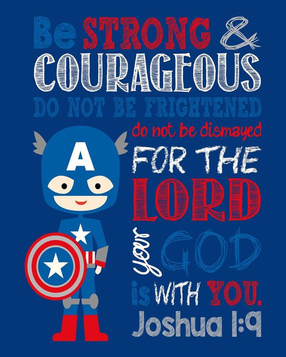 Set of 4 Superhero Wall Art Christian Print by PixiePaperSTL