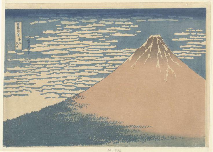 Helder weer en een zuidelijke wind, Katsushika Hokusai, in of na 1868 - in of voor 1912
